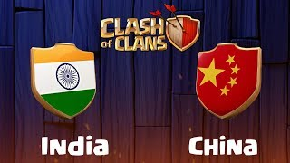 India vs China | Clan War - Clash of Clans - COC