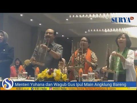 TANPA LATIHAN! Menteri Yohana dan Wagub Gus Ipul Bisa Main Angklung