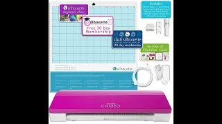 Silhouette Pink CAMEO 3 Creative Bundle with Bluetooth, 12 Oracal, 651 Sheets and 12 Siser Easyweed