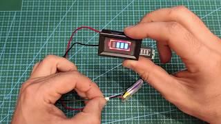 Индикатор уровня заряда Li ion аккумуляторов