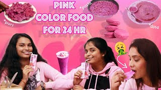 I ONLY ATE PINK FOOD FOR 24 HOURS CHALLENGEiii l Food Challenge l Cook With Asha