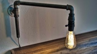 How to Make a Modern Swinging Wall Light from Iron Pipe Fittings