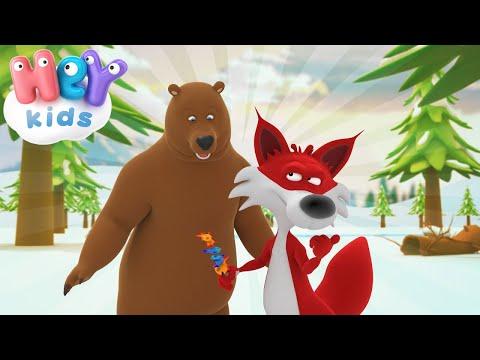 Лиса и Медведь - Как лиса медведя одурачила - Детская сказка