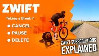 Zwift Subscriptions Explained: Cancęlling // Pausing // Deleting Accounts