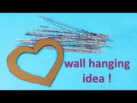 DIY  wall hanging out of newspaper || Easy craft idea || handmade art and craft