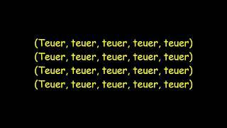 Farid Bang - TEUER TEUER (Lyrics)