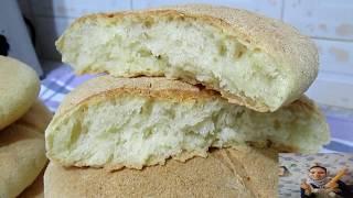 خبز  الدار بالخلاط بدون دلك أو تعب بدون عجانة خفيف و رطب في أسرع وقت