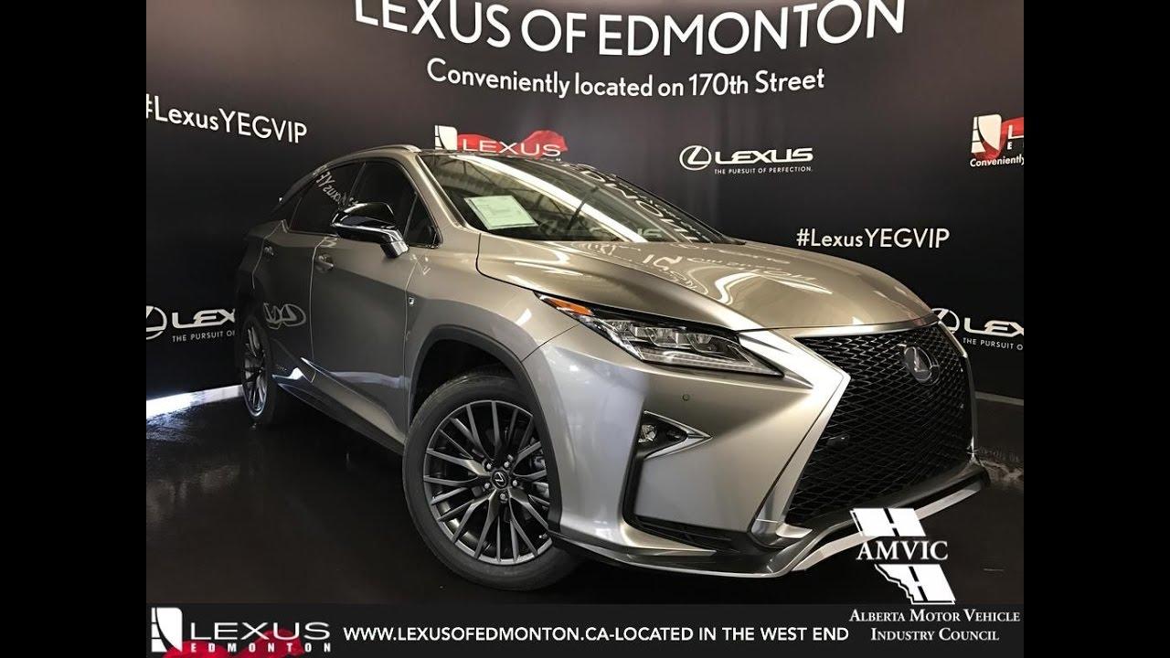 2017 Atomic Silver Lexus Rx 450h Awd Hybrid F Sport Series 3 Review Downtown Edmonton Alberta You