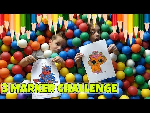 3 STIFTEN CHALLENGE IN DE BALLENBAK !! - Broer en Zus TV VLOG #141