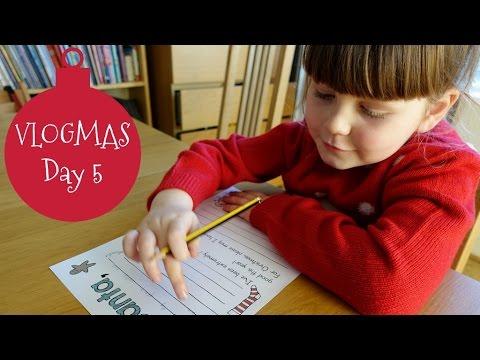 Writing to Father Christmas | VLOGMAS