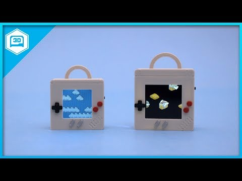 Make a Game Boy inspired pendant with a miniature display of animated Mario clouds