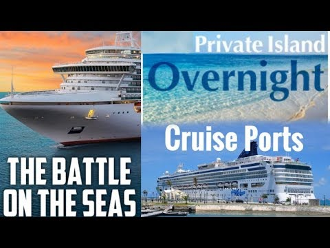 BATTLE Of The CRUISE SHIP PRIVATE ISLANDS & PORTS