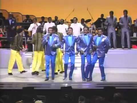 1985 The Temptations VS Four Tops on Motown Return To The Apollo