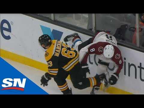 Download Cale Makar Leaves Game With Injury After Hard Hit From Brad Marchand Mp4 baru
