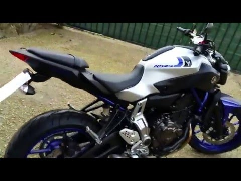 yamaha mt 07 race blue 2016 youtube. Black Bedroom Furniture Sets. Home Design Ideas