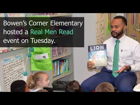 Real men read at Bowen's Corner Elementary