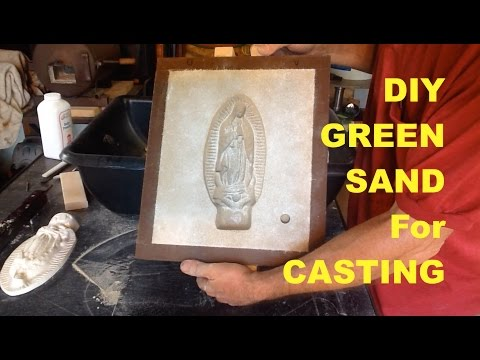 DIY GREEN SAND FOR CASTING - CHEAP, SIMPLE and FAST - MSFN
