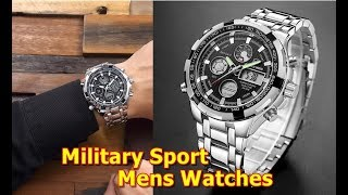 Best mens watches under 100 dollars GOLDENHOUR Luxury Brand Waterproof Military Sport Watches Men