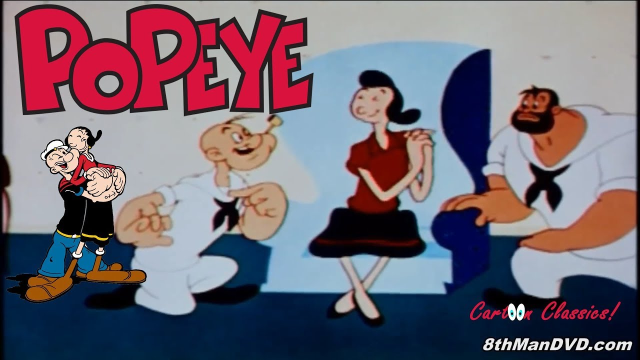 popeye the sailor man nearlyweds 1956 remastered hd 1080p