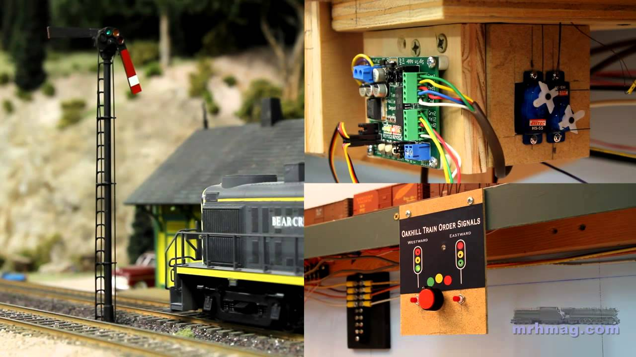 how to make model railway signals