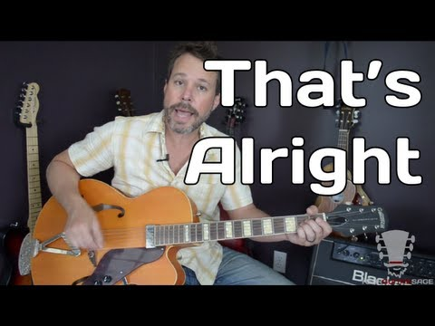 How To Play That's Alright by Elvis Presley - Guitar Lesson