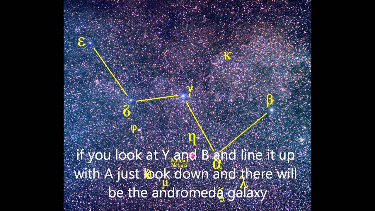 how to find the andromeda galaxy - YouTube