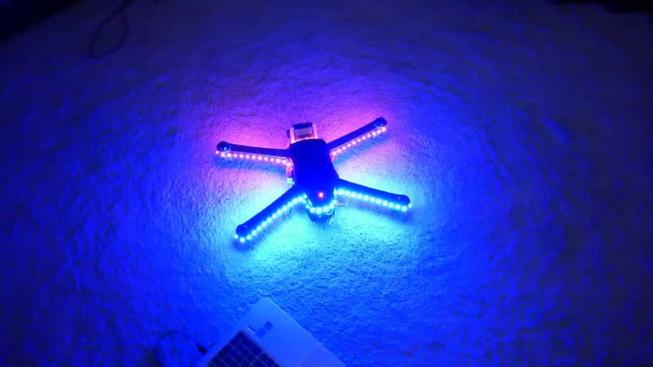 3DR IRIS With Night Lights   YouTube