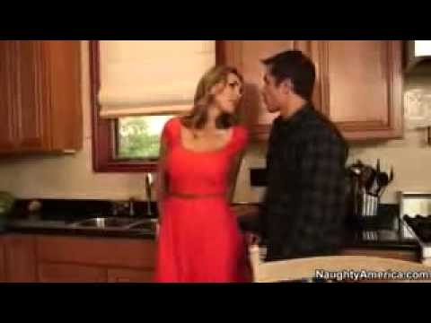 French Tanya Tate takes handymans guy on kitchen counter