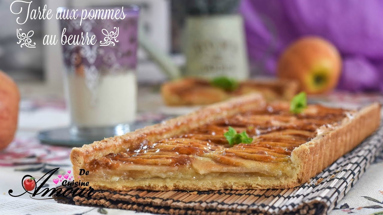 recette de tarte aux pommes au beurre tarte facile et rapide la meilleure youtube. Black Bedroom Furniture Sets. Home Design Ideas