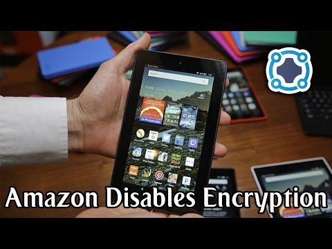 Amazon Disables Encryption on Fire OS