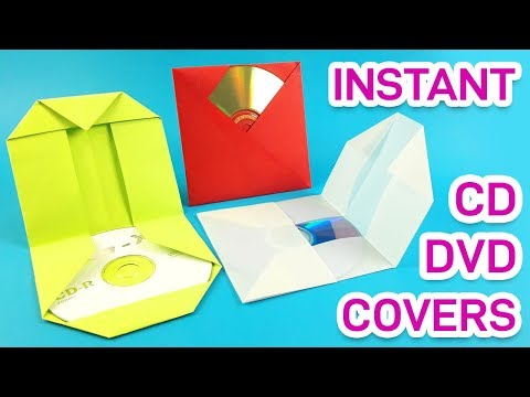 How to make paper CD / DVD cover instantly. | DIY for home & office