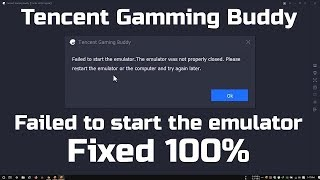Fix Failed to start the emulator The emulator was not properly