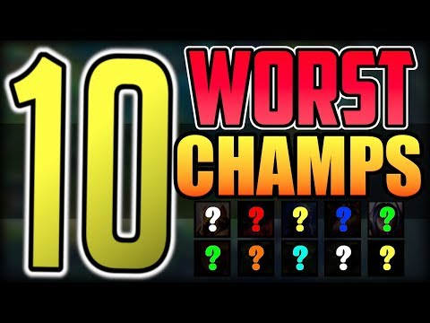 TOP 10 Worst Champions in League of Legends Patch 9.3 | Worst Champions to Play in LoL Season 9 thumbnail