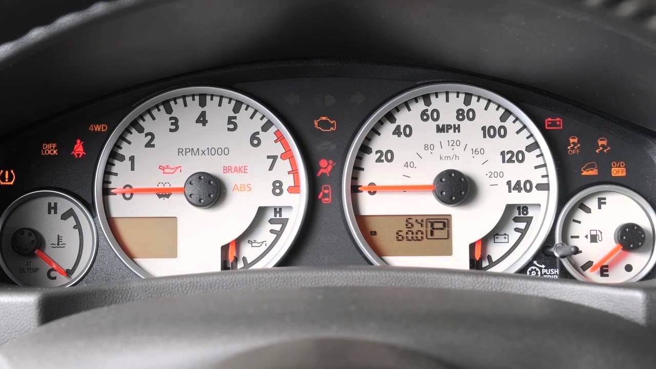 2016 Nissan Frontier - Warning And Indicator Lights