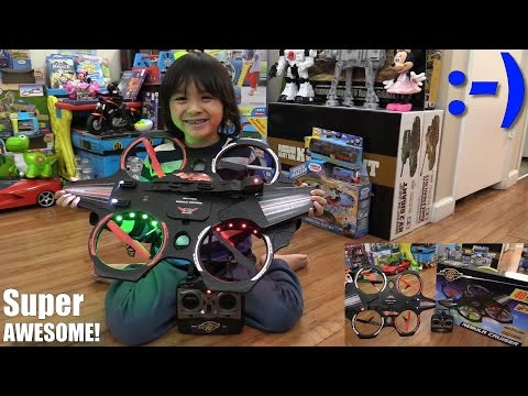 RC Toys: Flying a Quadcopter for the First Time! Nebula Cruiser Remote Control Unboxing
