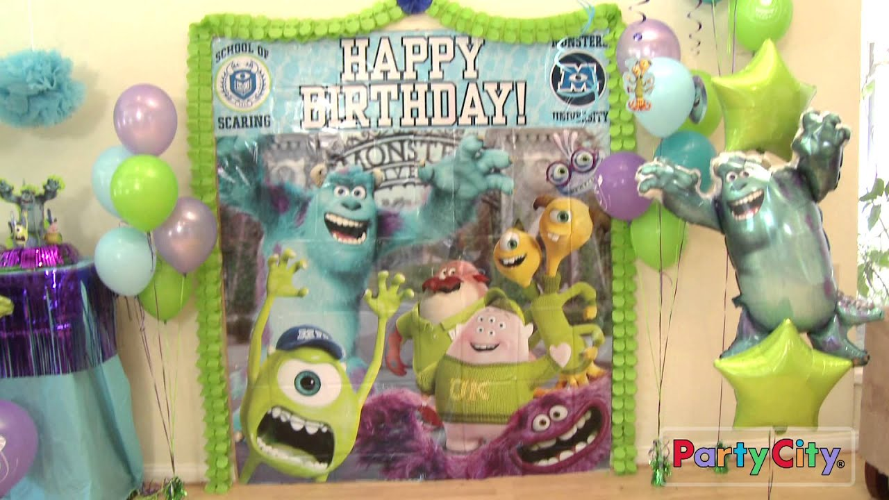 Monsters university party ideas youtube for All decoration games