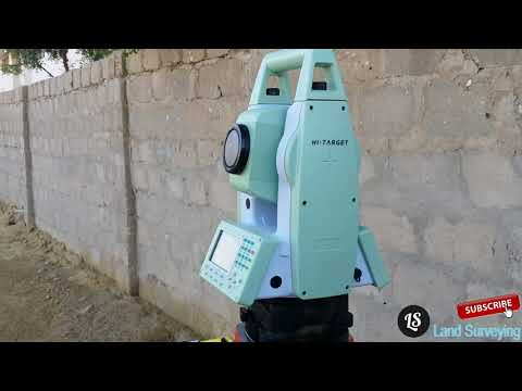 How to Start Topographical Survey or As built Survey With HI TARGET Total Station On Site