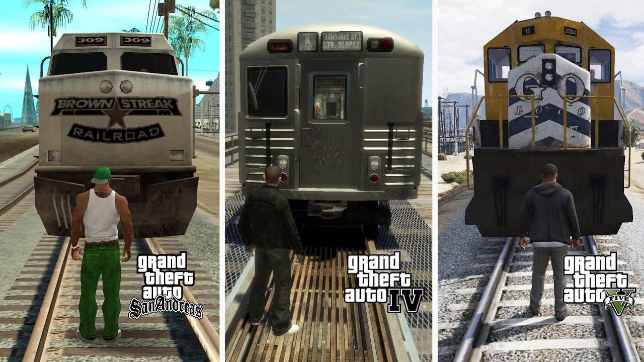 Perbedaan Fisik Lawan Kereta GTA SA, GTA 4 Dan GTA 5