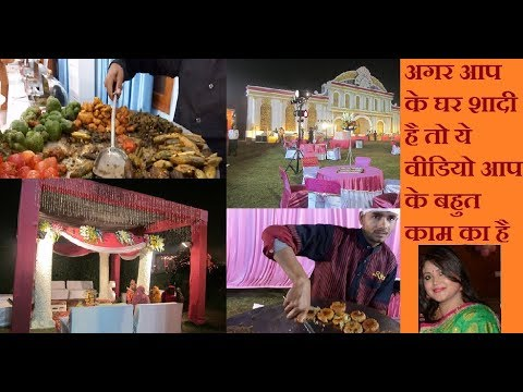 Indian Wedding Vegetarian Food Ideas|Indian Wedding Tour|Wedding Food menu Ideas
