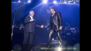 Johnny Hallyday & Charles Aznavour - Sur ma vie