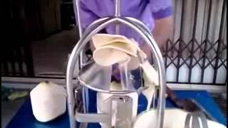 COCONUT TRIMMING MACHINE - Coconut peeling machine - Coconut cutting machine
