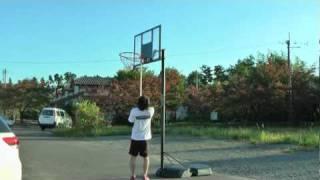 ライフタイム製バスケットゴール動画【クイックアジャストの高さ調節方法】