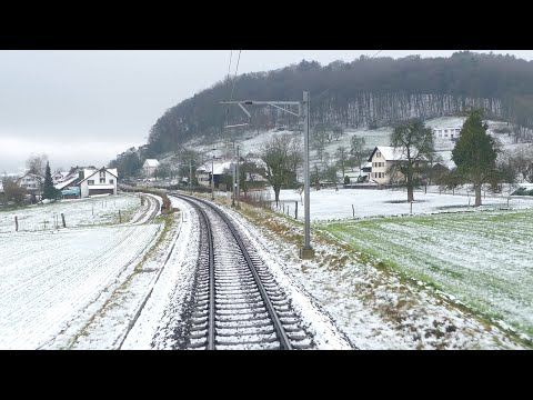 ★ 4K Cab ride Glattbrugg - Basel via Bozberg [2018]