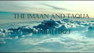 THE IMAAN AND TAQUA OF SAHABAH--BY--HAZRATH MAULANA ABID KHAN SAHAB [DB]