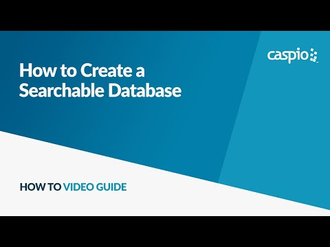 How to build a website with a searchable database