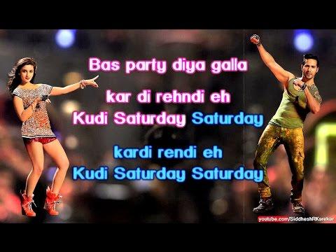 Saturday Saturday (Instrumental / Karaoke) with Lyrics (from