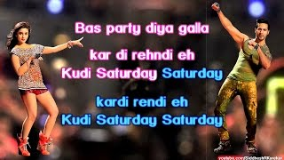 "Saturday Saturday (Instrumental / Karaoke) with Lyrics (from ""Humpty Sharma ki Dulhaniya"") [2014]"