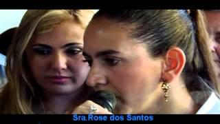 A Secretária de Bem Estar Social Rose Santos comemora a inauguração do CREAS.