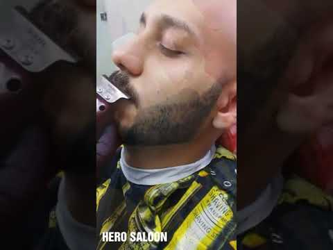 BARBER SHOP shaving with airbrush HERO SALOON DOHA QATAR