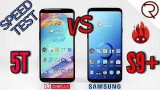Samsung Galaxy S9 Plus VS OnePlus 5T SPEED TEST - Snapdragon 845 VS 835